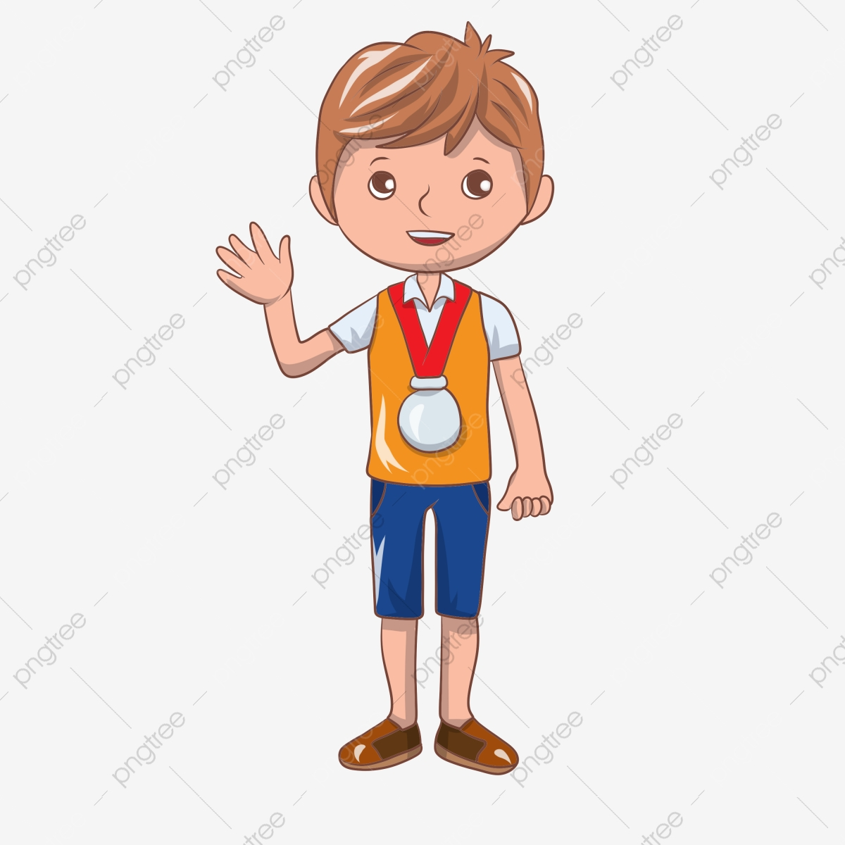 Hand painted receive a. Medal clipart champion boy