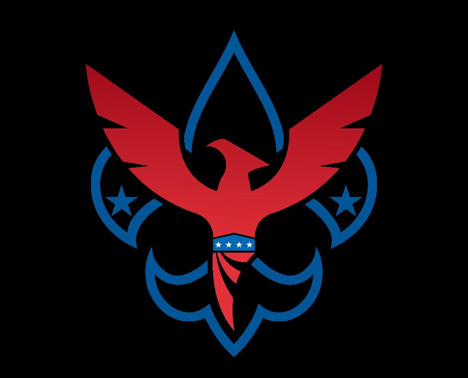 Fleur de lis with. Phoenix clipart emblem