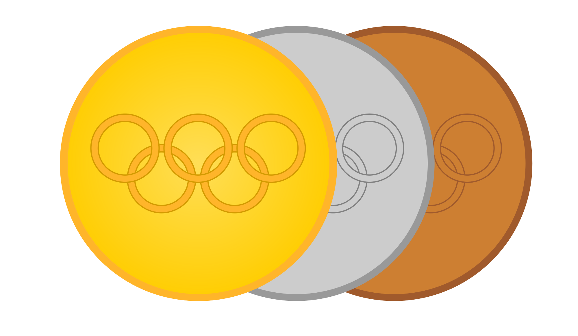 Olympics clipart gold medalist. File goldsilverbronze medals svg