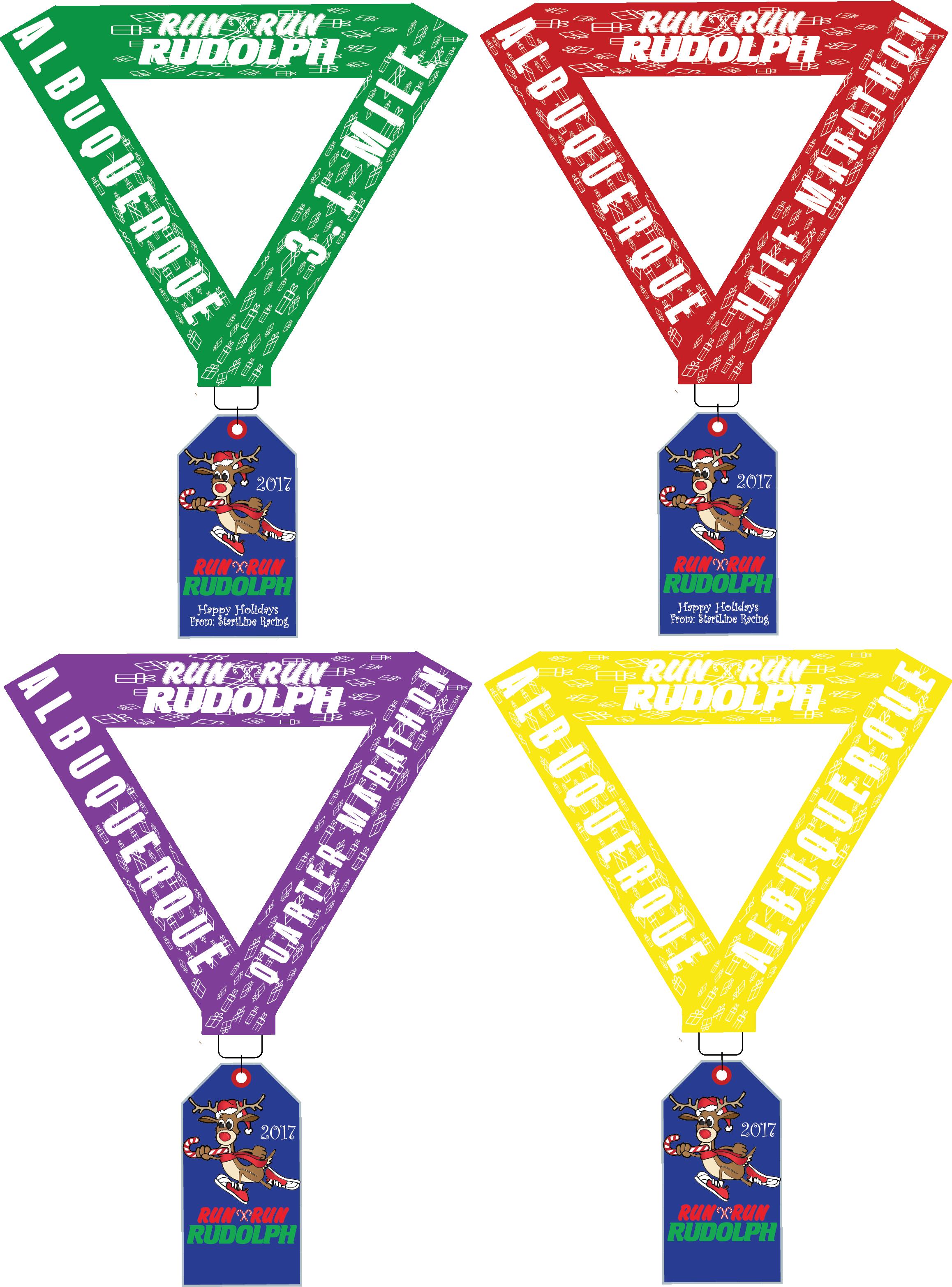 Olympics clipart marathon medal. Albuquerque run rudolph half