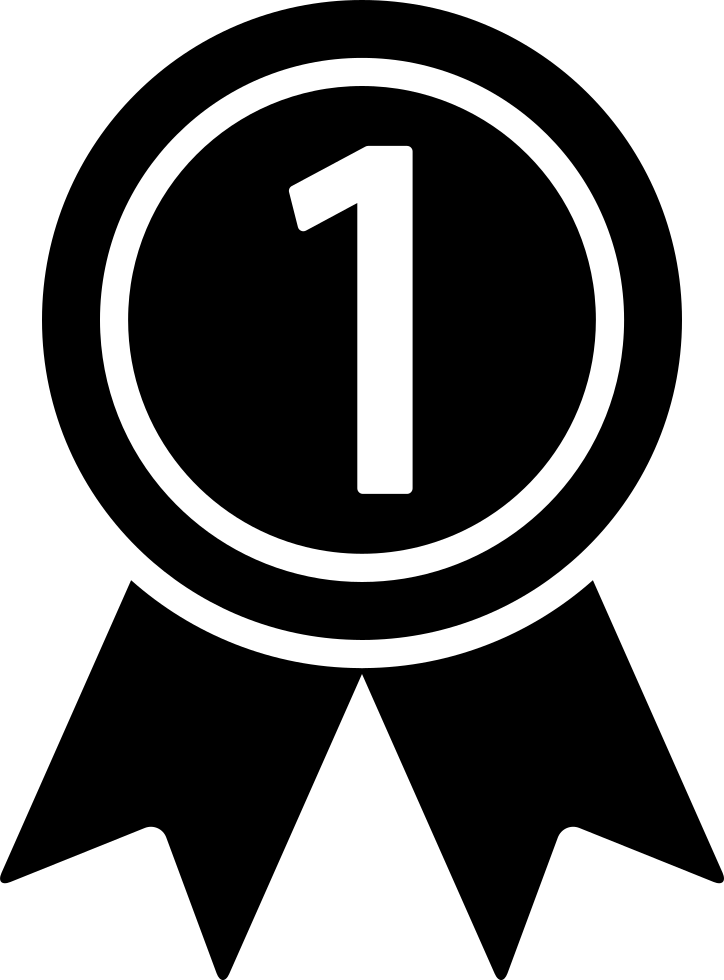 Medal on a for. Number 1 clipart ribbon