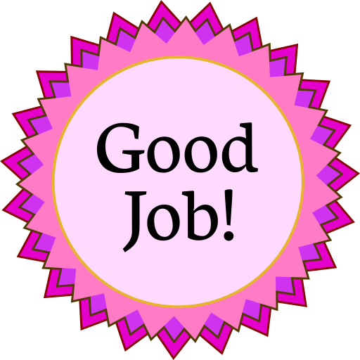 Award good job education. Medal clipart pink