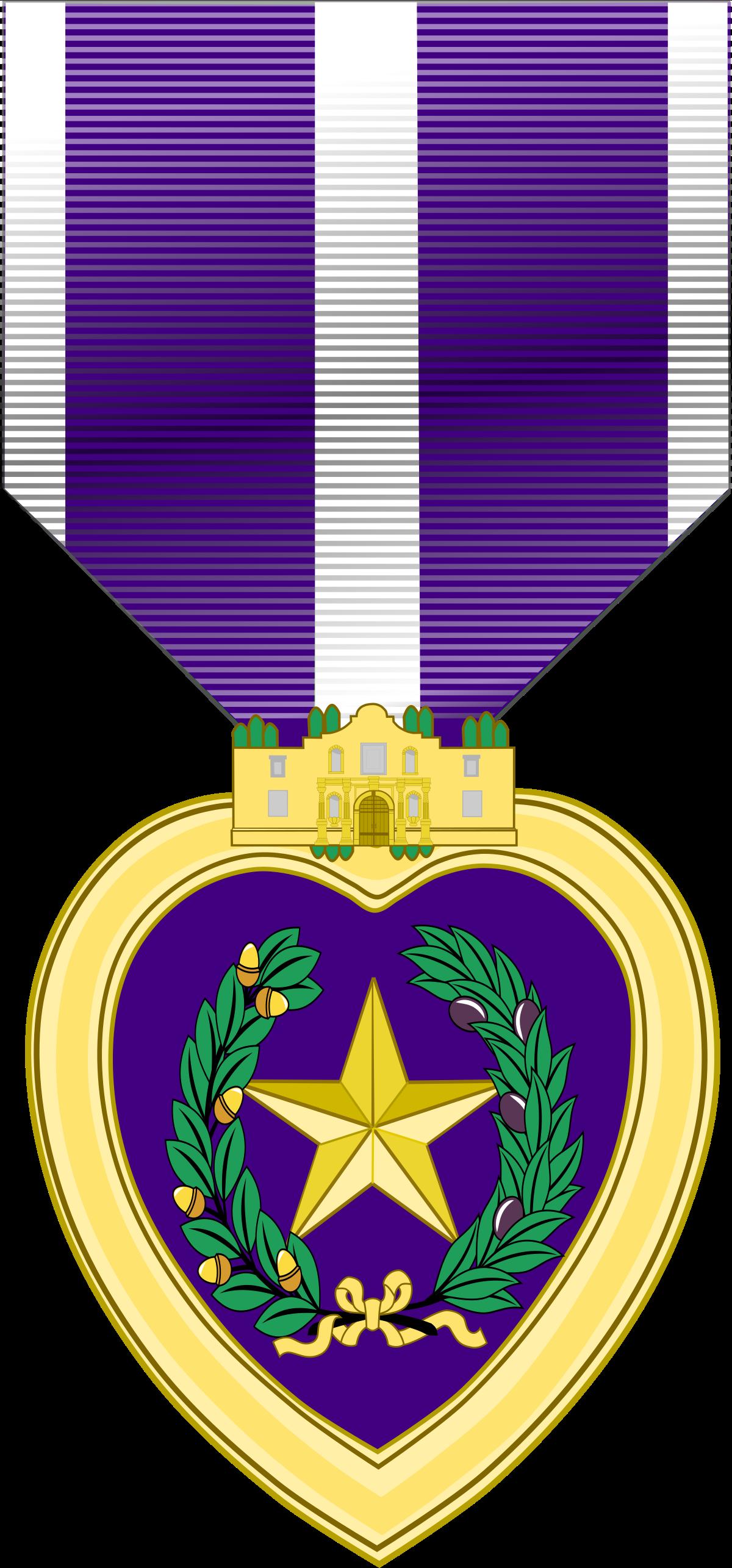 Purple clipart medal. Texas heart wikipedia