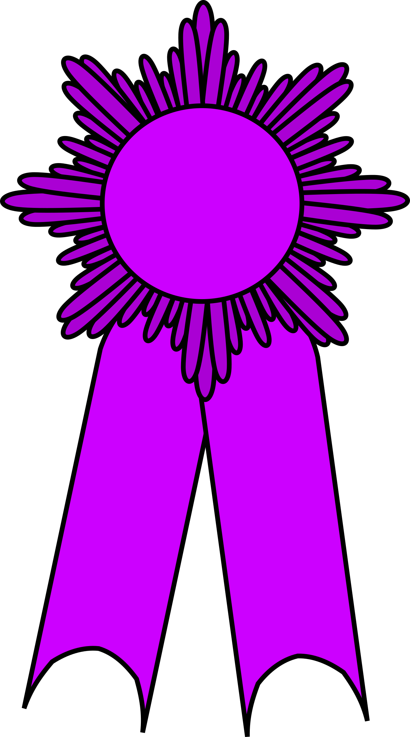 Prize ribbon big image. Purple clipart medal