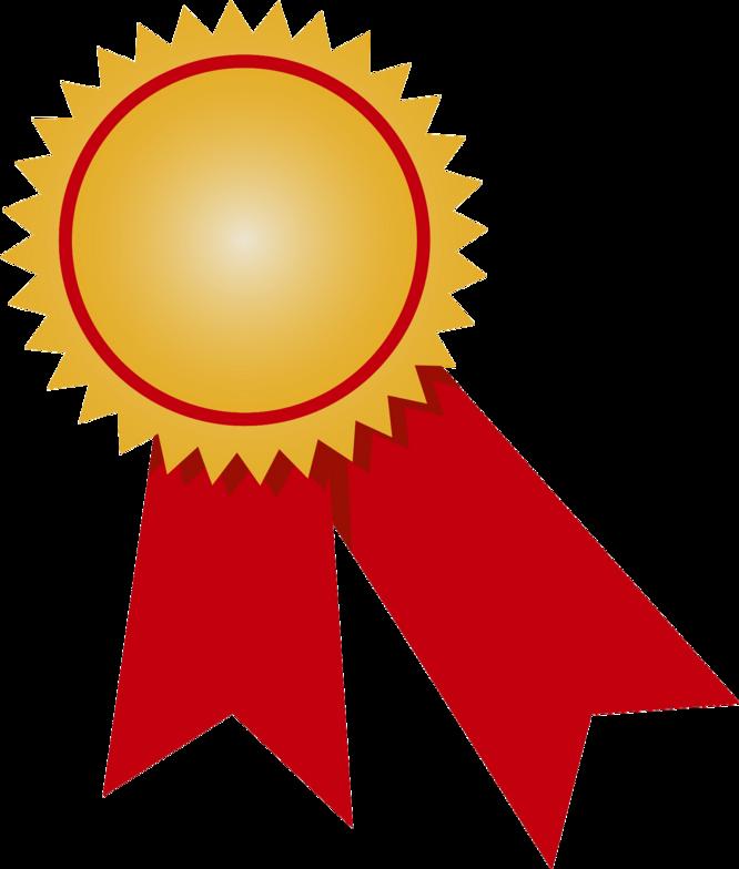 Gold png transparent image. Medal clipart red