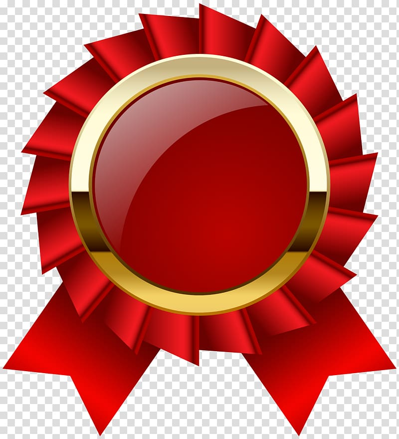 And gold ribbon award. Medal clipart red