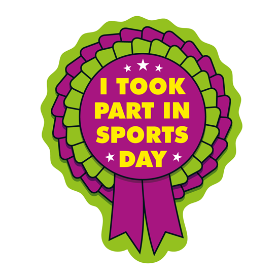 Rosettes stickers i took. Medal clipart sports day