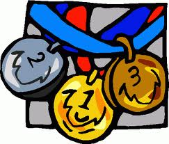 Medal clipart sports day. One happy family