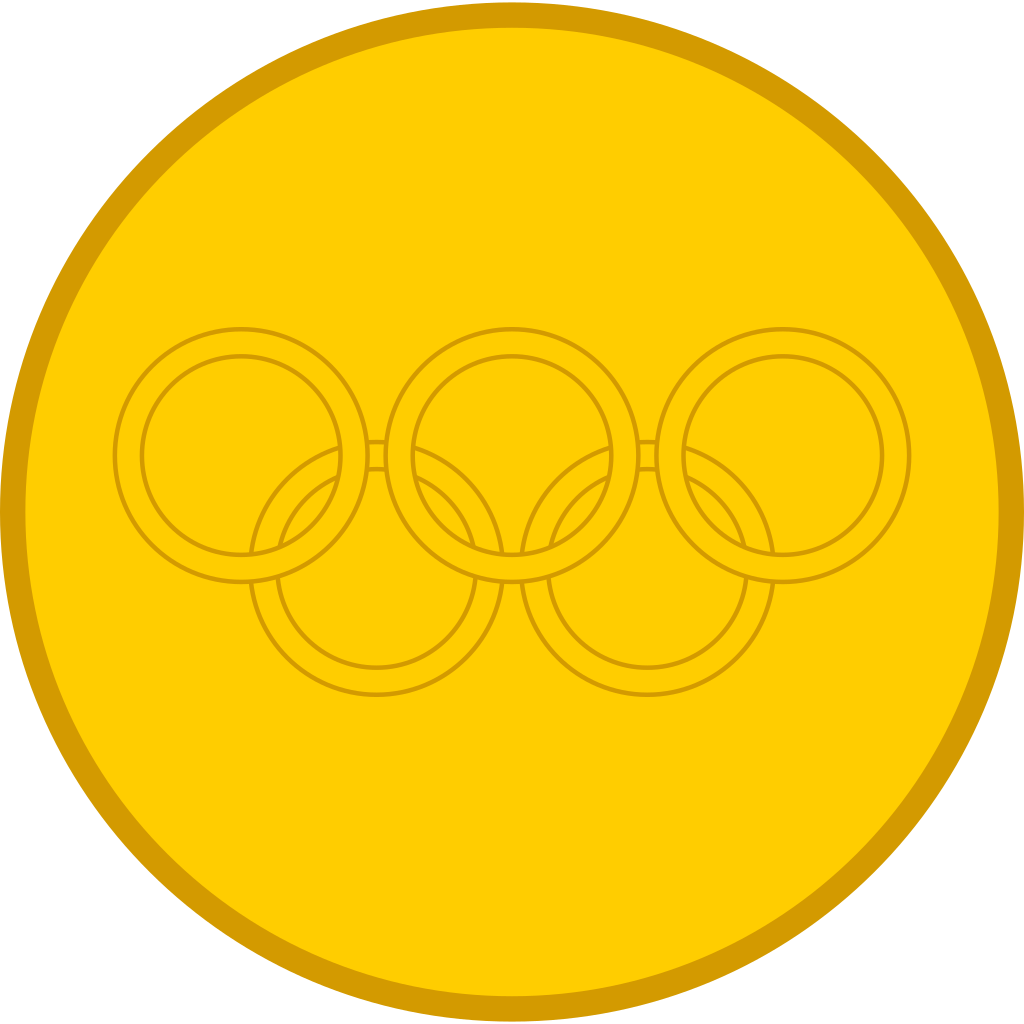 File gold svg wikimedia. Sports clipart medal
