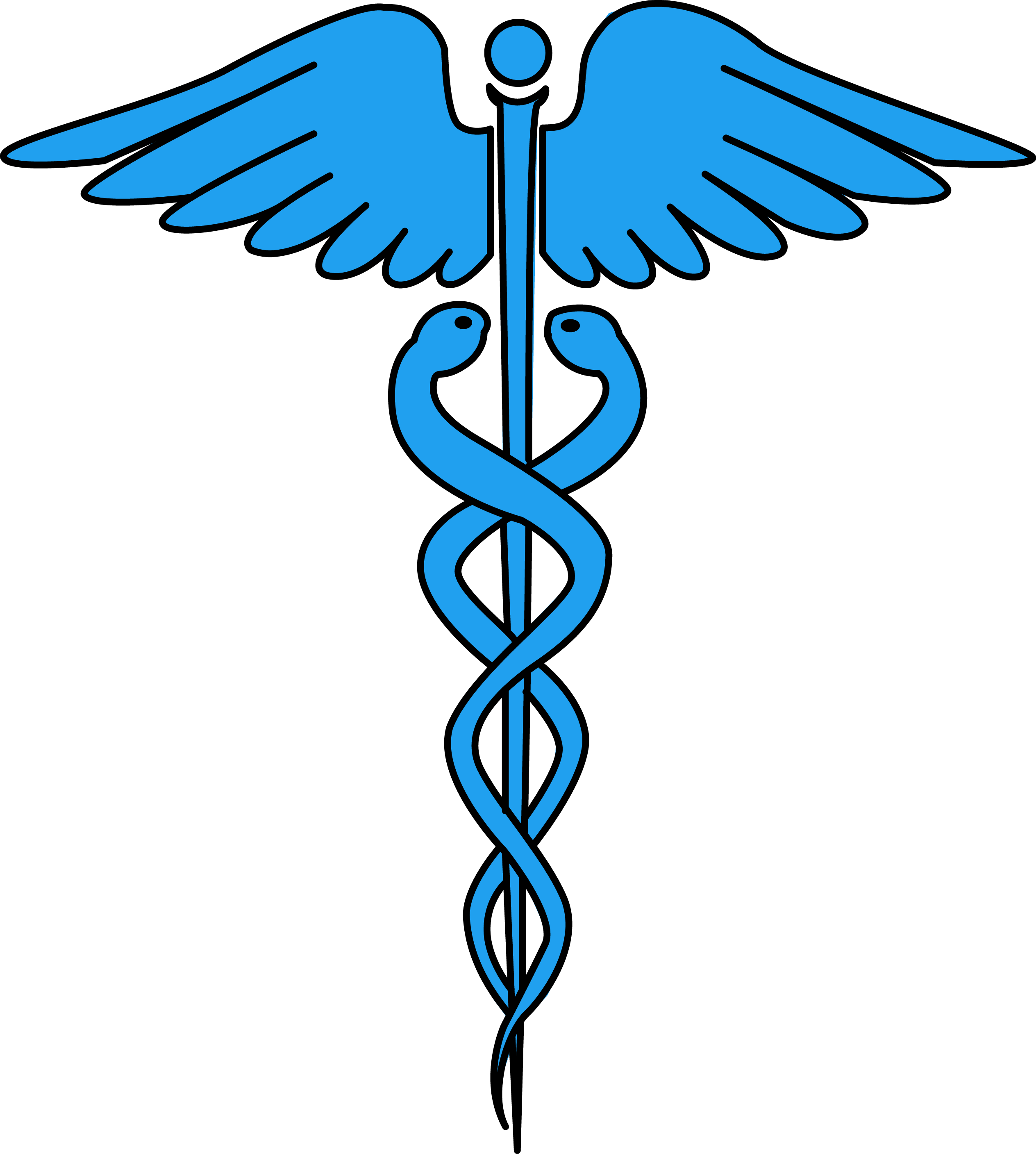Image for free caduceus. Health clipart health issue