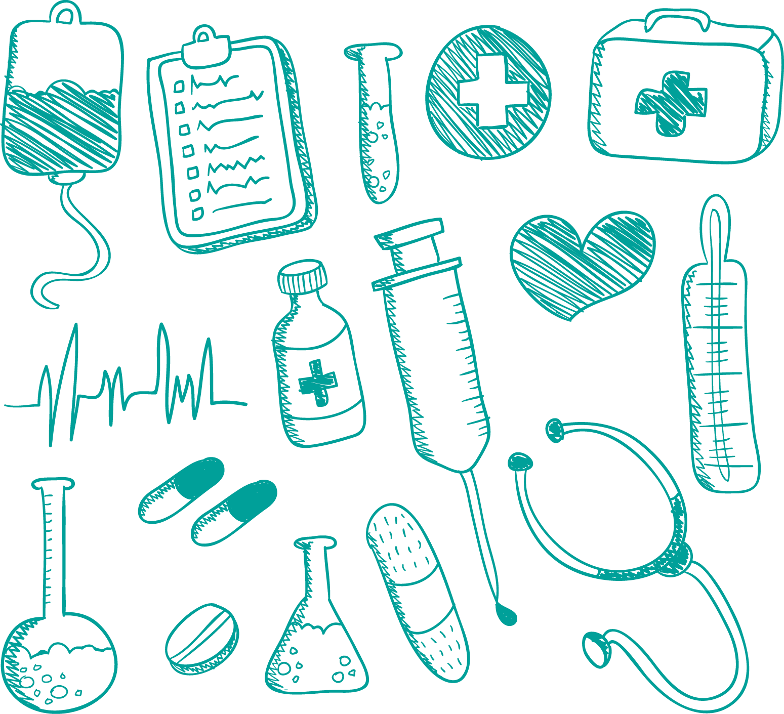 Medical clipart drawing. Medicine nursing doodle supplies