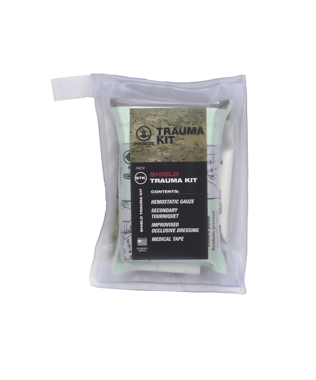 Shield trauma kit compact. Medical clipart gauze