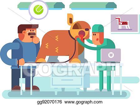 Medical clipart health visitor. Vector illustration veterinary clinic