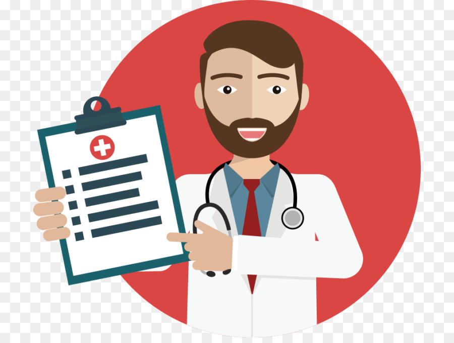 Patient cartoon medicine smile. Professional clipart medical professional