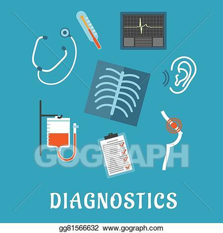 Medical clipart medical test. Eps illustration diagnostics and