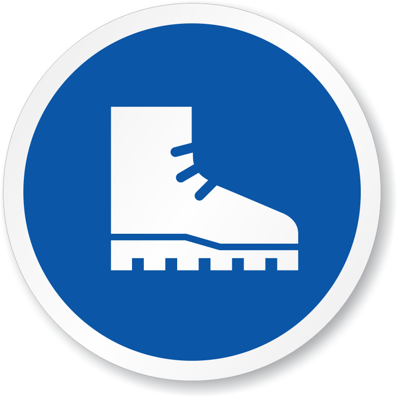 Foot protection signs safety. Medical clipart ppe