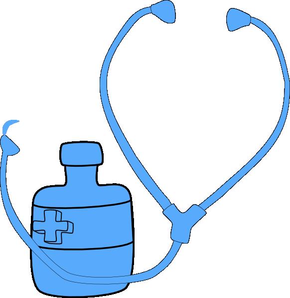 Medicine blue clip art. Needle clipart stethoscope
