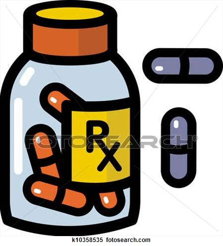 Prescription . Medication clipart