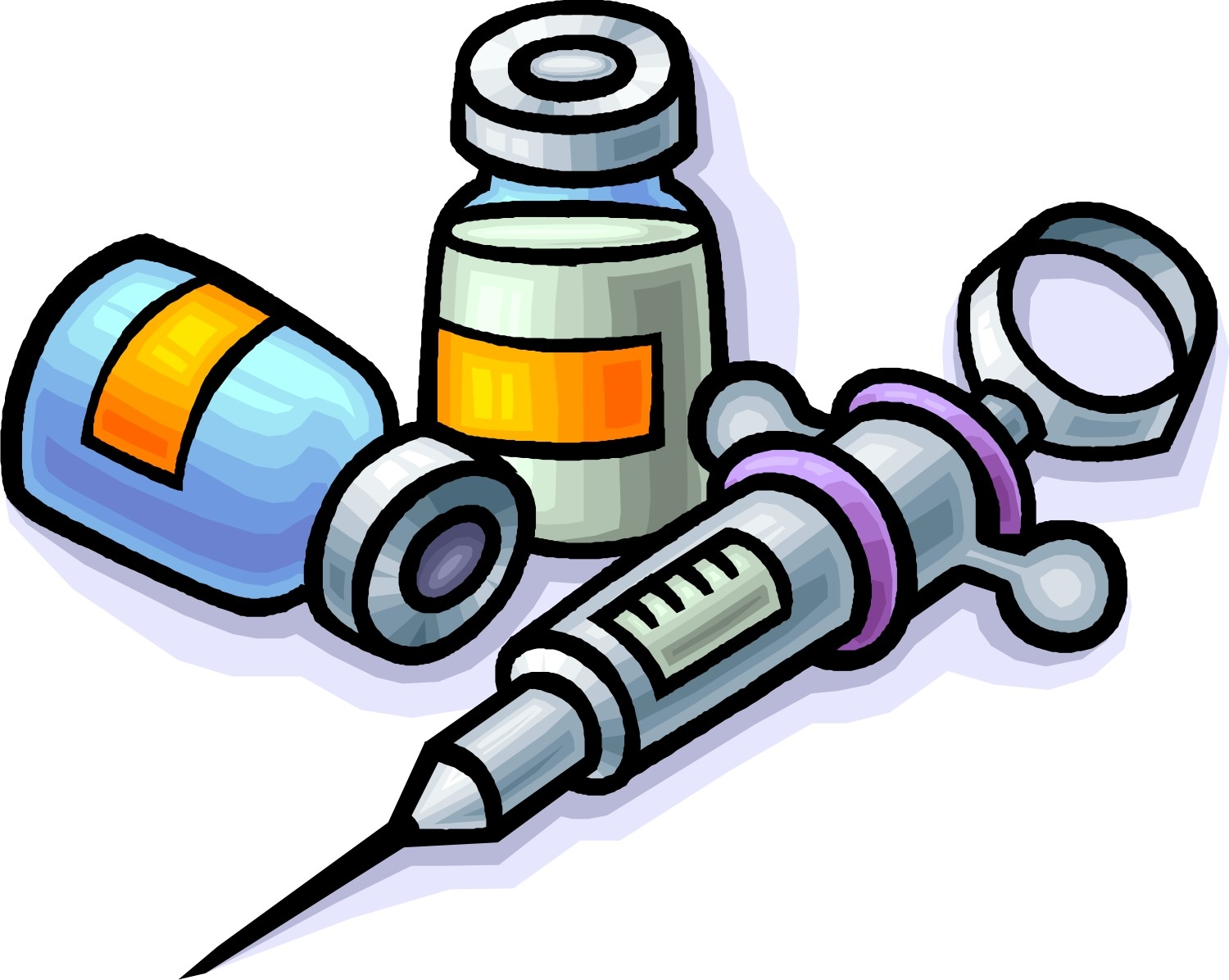 Medication clipart. New collection digital coloring