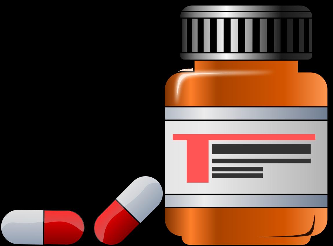 pills clipart medication label