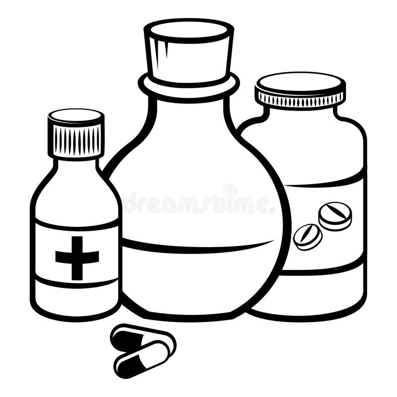 Medicine bottle at paintingvalley. Medication clipart drawing