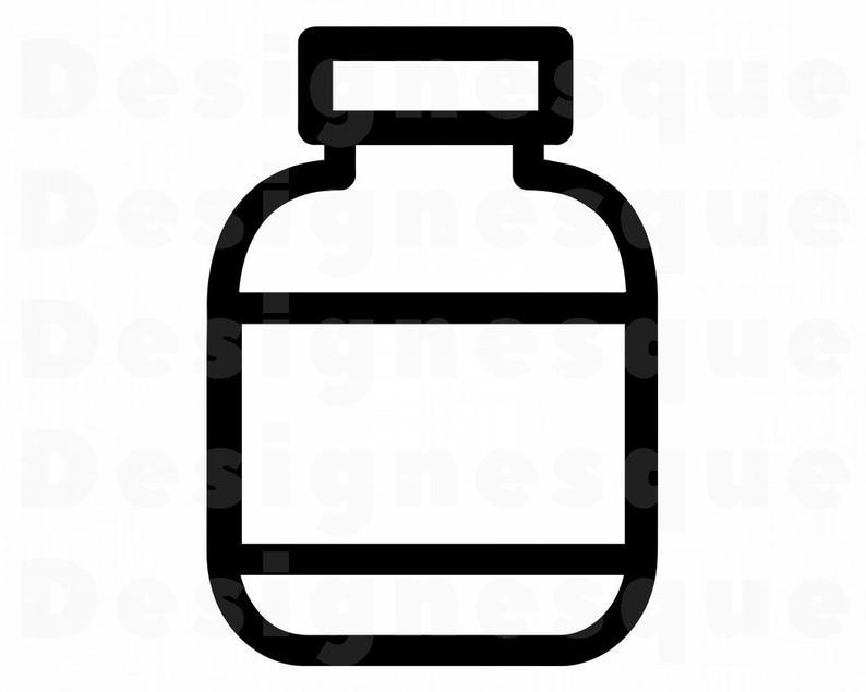 Medication clipart painting. Medicine bottle outline svg