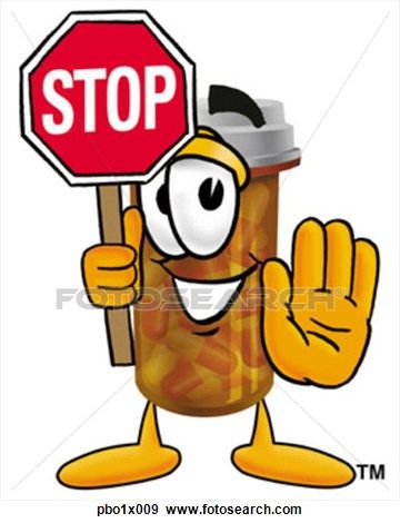 Pill bottle holding stop. Medication clipart painting
