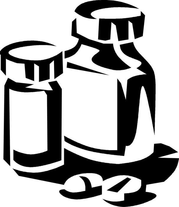 Pills clipart pharmacist. Prescription medication vector image