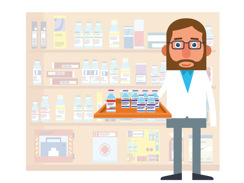 Kit check tour technician. Medication clipart pharmacy tech