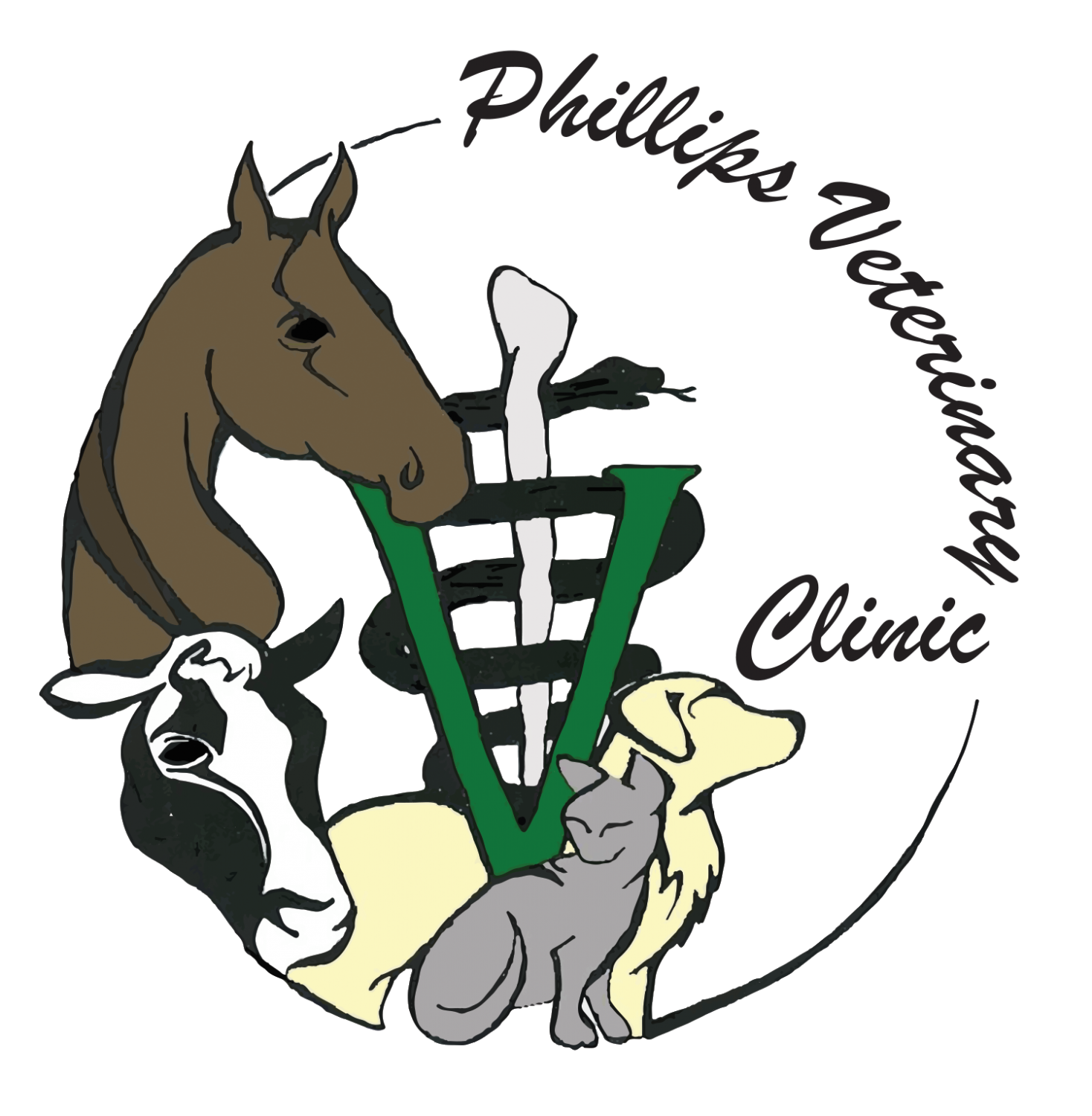 Small animal medical services. Veterinarian clipart person