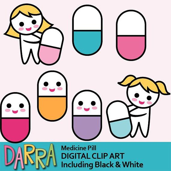 Pill clip art commercial. Medicine clipart cute