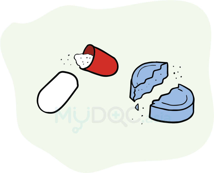 Are your medicines healing. Medicine clipart english