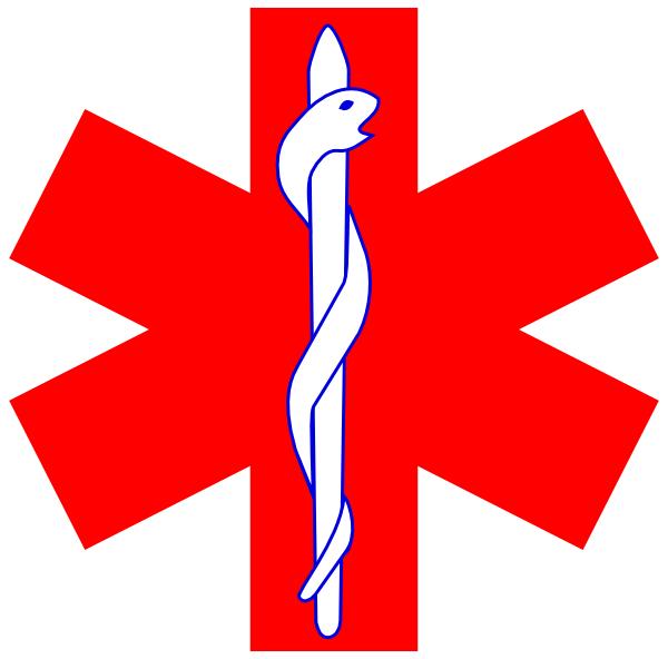 Medicine clipart medical icon. Red paramedic logo simple