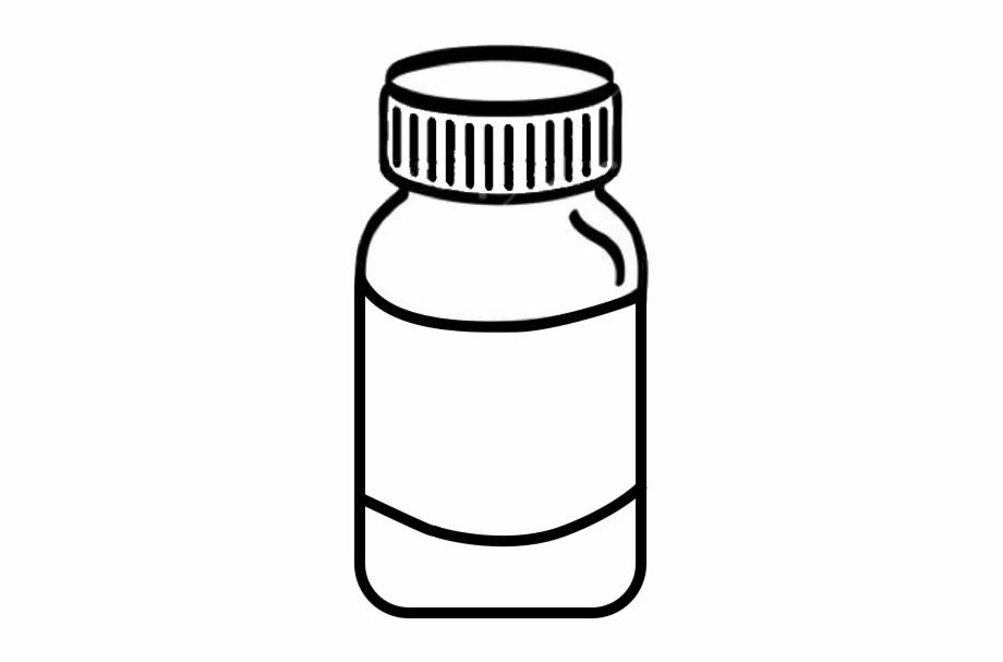 Pencil and in color. Medicine clipart medicine bottle
