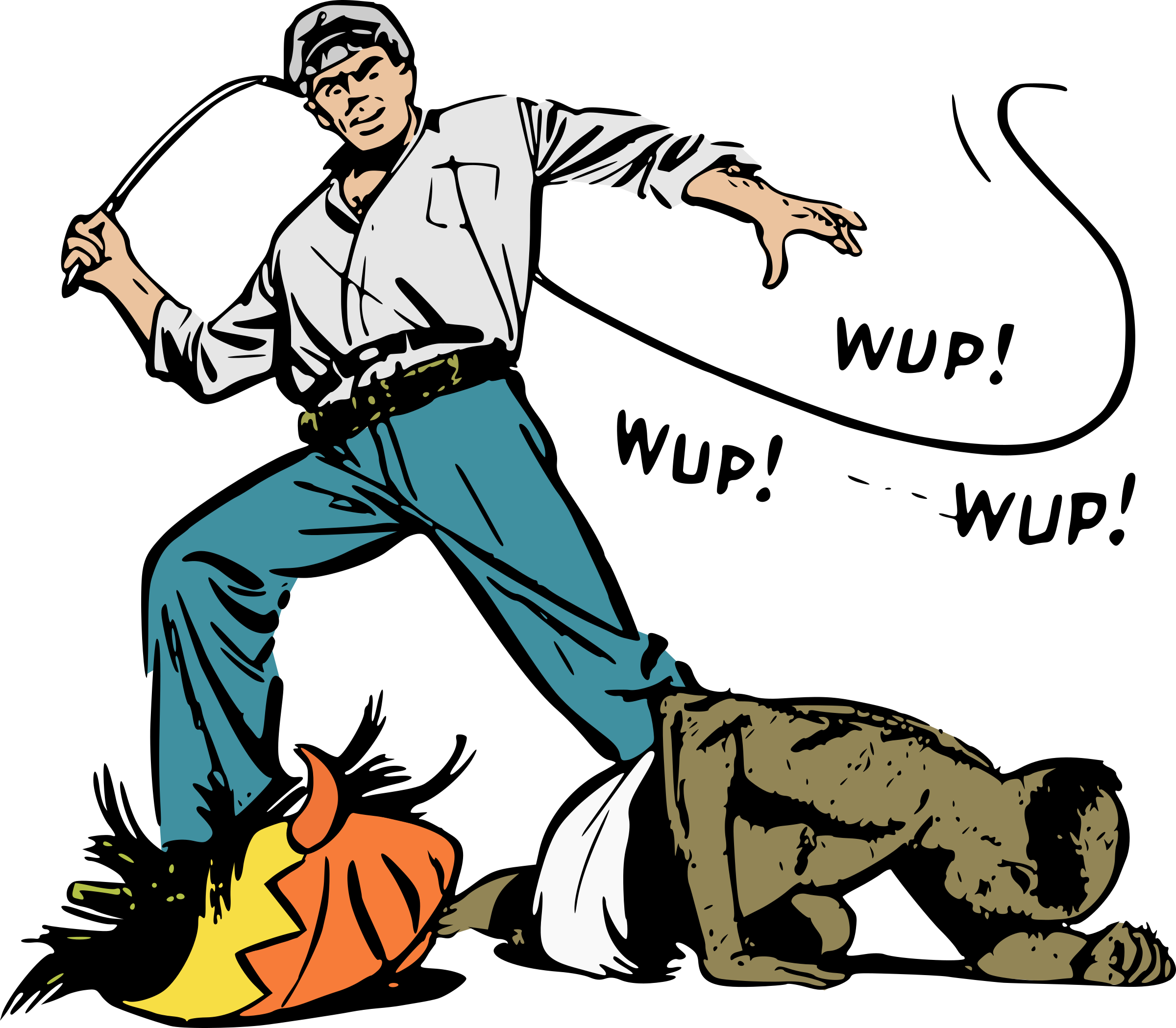 Ivory trader whipping old. Whip clipart infidel