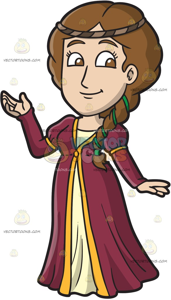 Medieval clipart. Women collection clip art