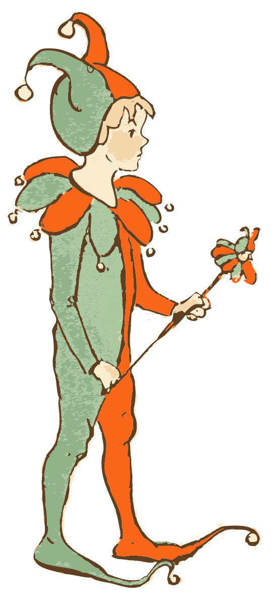 Medieval clipart boy. Jester child by johnnyautomatic
