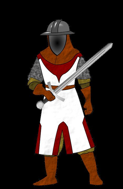 Medieval clipart boy. Knight soldier frames illustrations