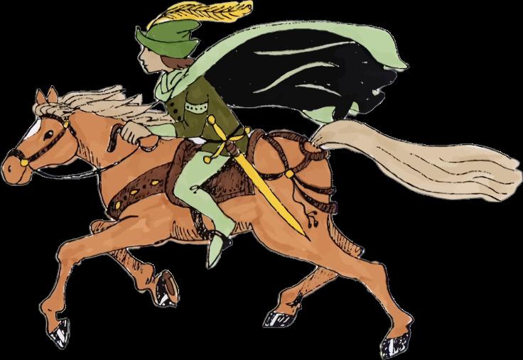 Medieval clipart boy. Horse rider medium image