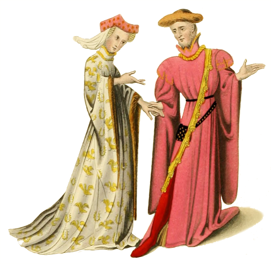 . Medieval clipart clothes