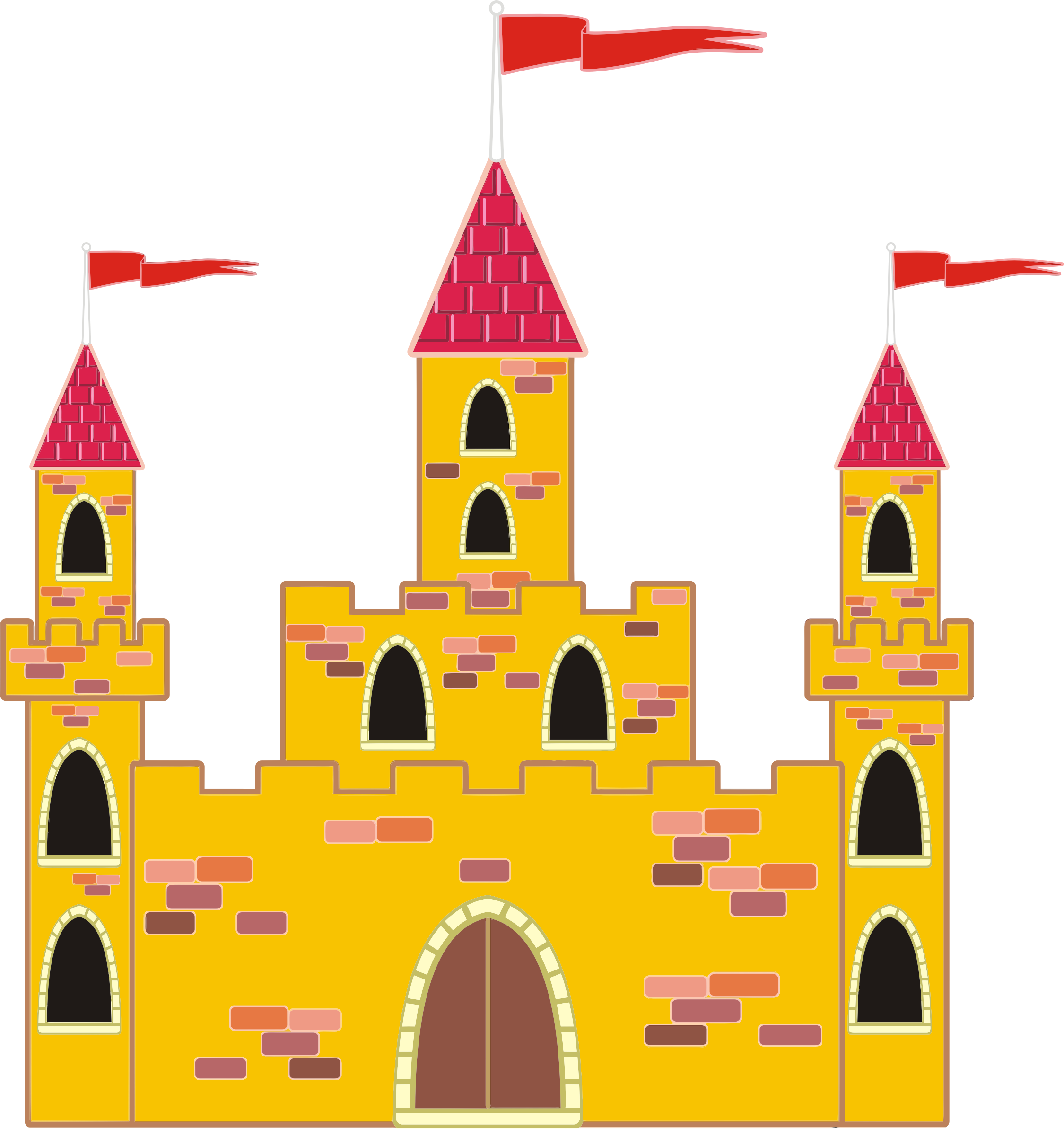Tower clipart turret castle. Colorful medieval big image