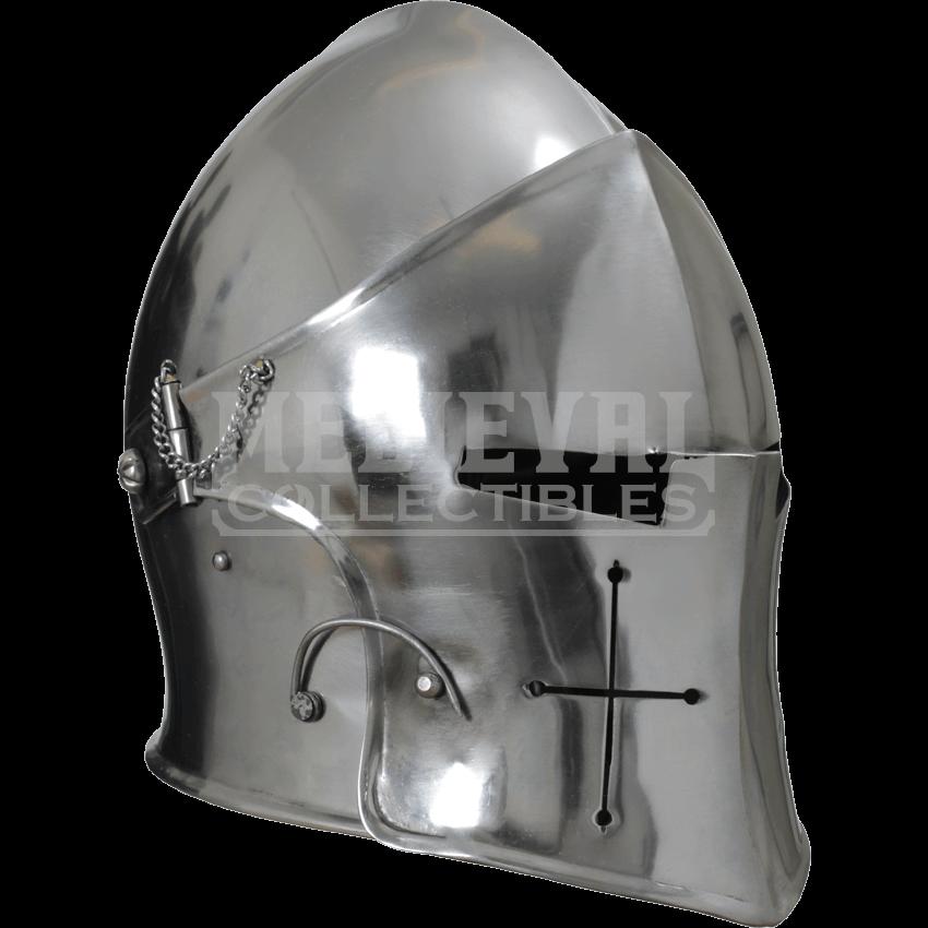 Visored barbuta mci from. Medieval helmet png