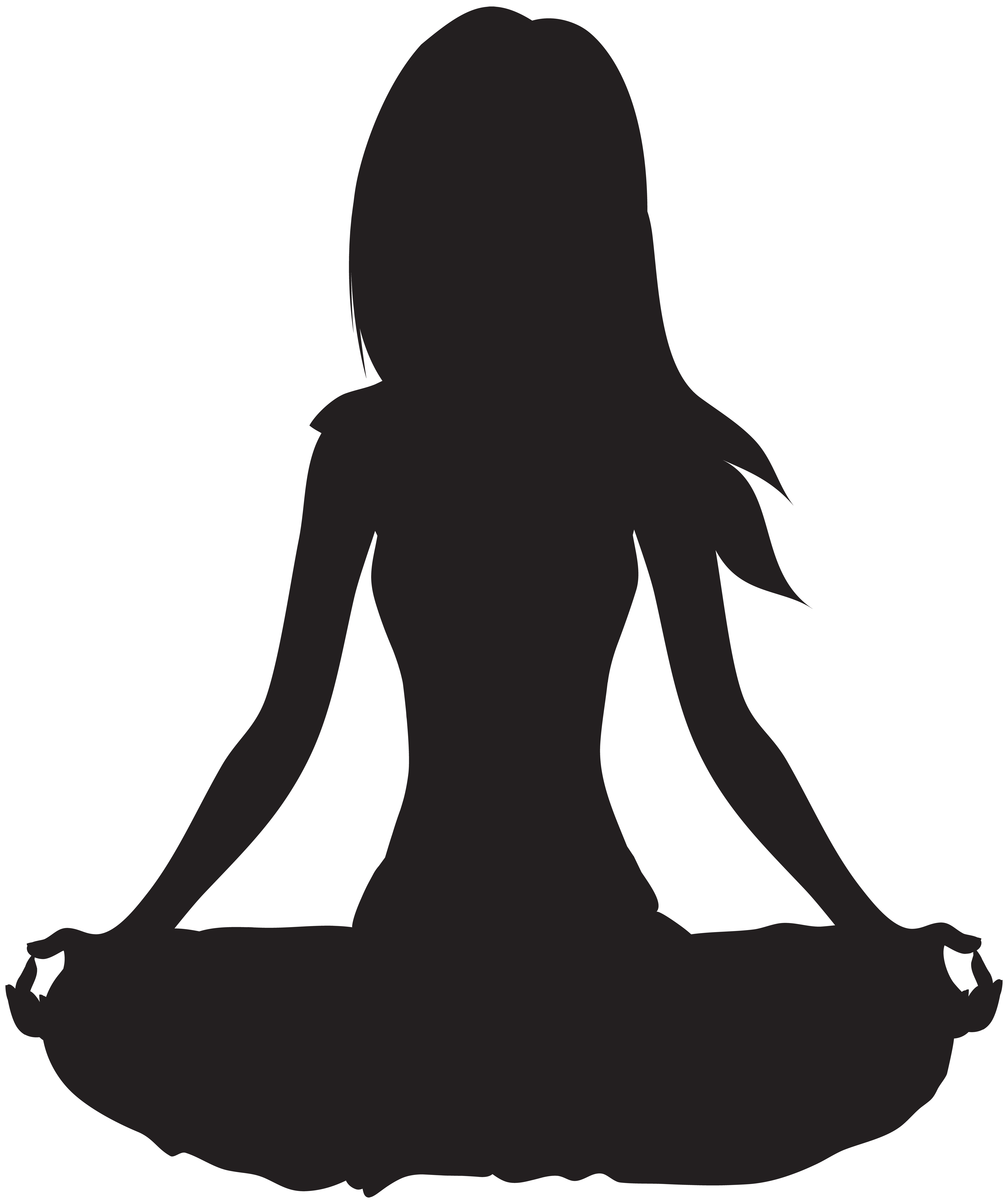 Meditation clipart. Meditate silhouette png clip
