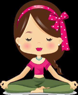Meditation clipart. Lotus position illustration the