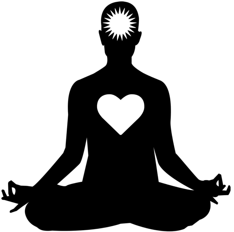 New yoga design digital. Meditation clipart