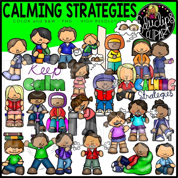 Meditation clipart calming strategy. Strategies clip art bundle