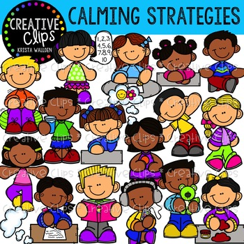 Strategies creative clips . Meditation clipart calming strategy
