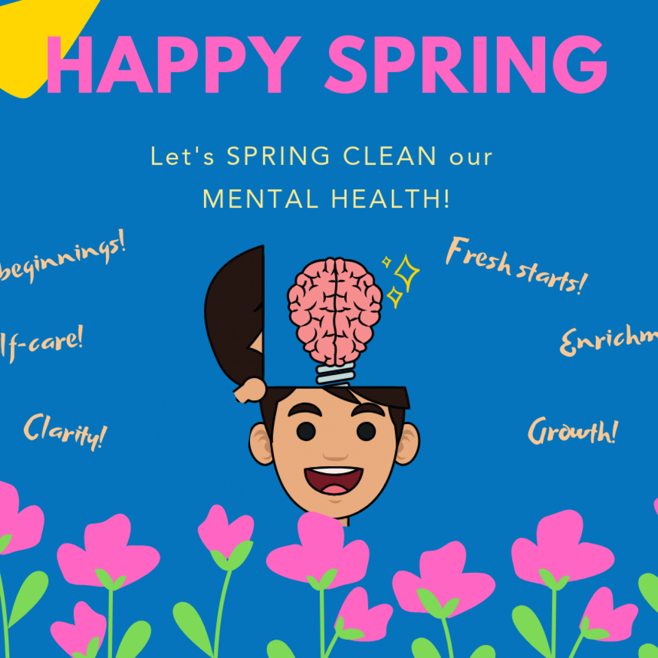 Spring clean your mental. Meditation clipart emotional health