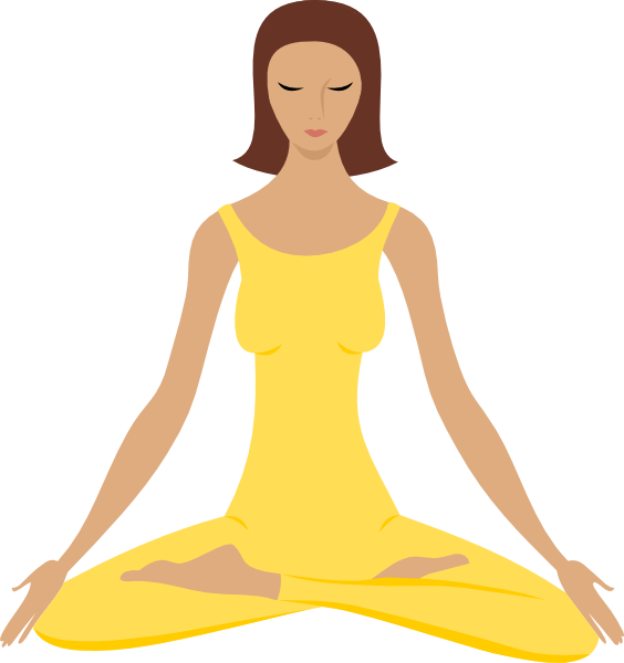 Woman in yoga position. Meditation clipart feng shui