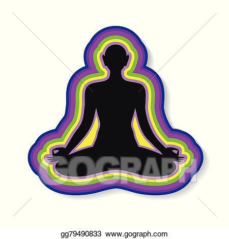 Meditation clipart positive body image. Vector stock yoga harmony